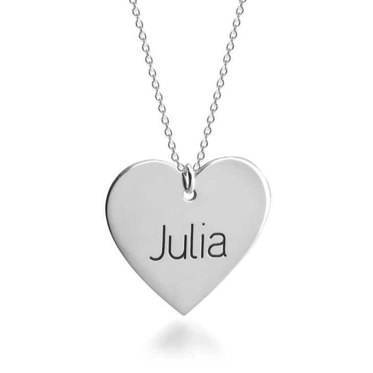 Heart Pendant Name Necklace