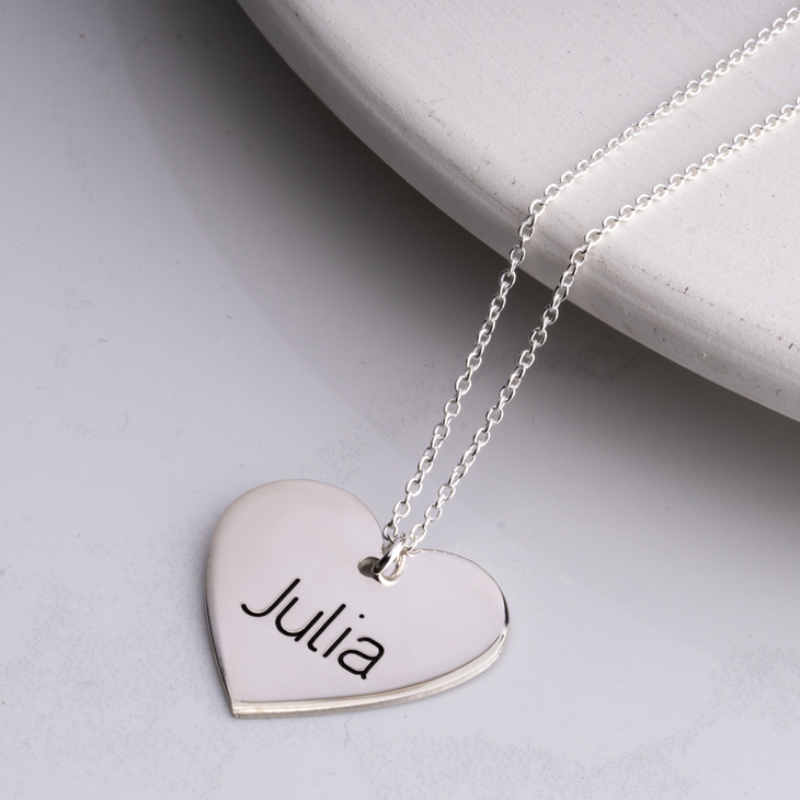 Heart Pendant Name Necklace - Picture 2