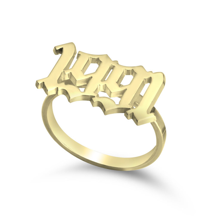 Old English Year Ring - Picture 2