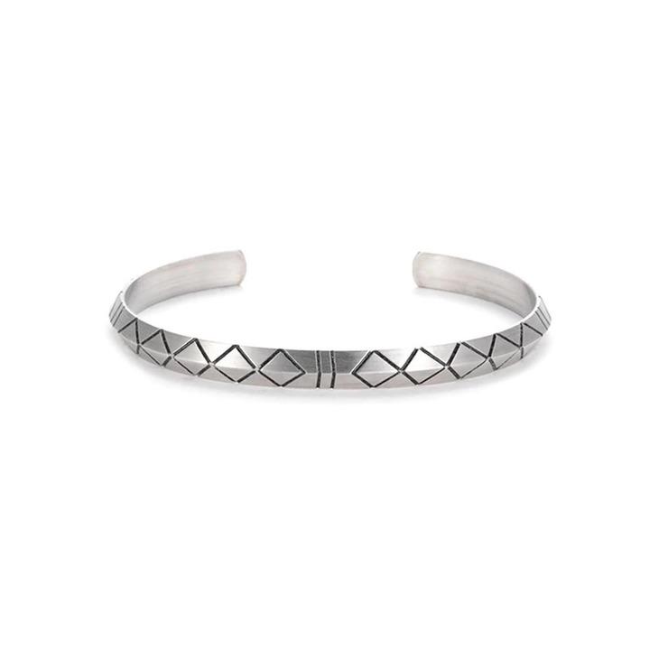 Tribal Silver Bracelet For Men