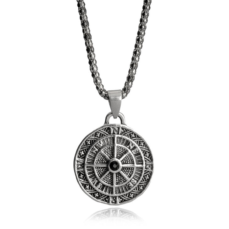 Men's Necklace With Compass