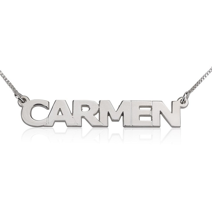 Capital Letters Name Necklace