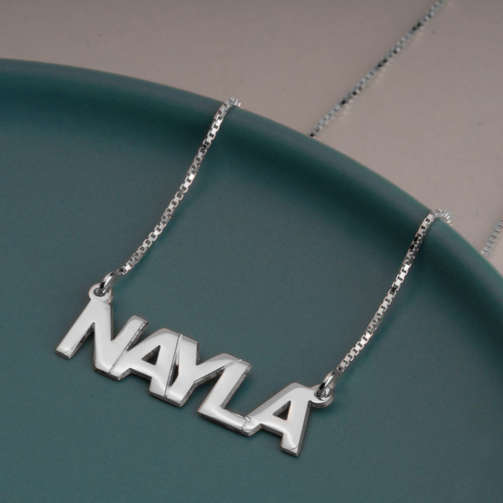Capital Letters Name Necklace - Model