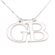Sterling Silver Two Initial Necklace