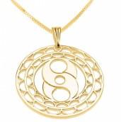 24k Gold Plated Crop Circle S Circle