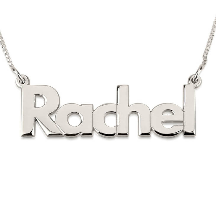 Bold Print Name Necklace