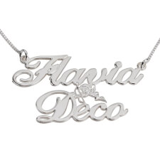Two Alegro Name Necklace with Cupid