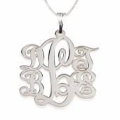 Sterling Silver 5 Initials Monogram Necklace