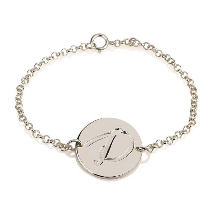 Sterling Silver Initial Bracelet Buy Now