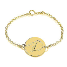 24K Gold Plated Initial Bracelet