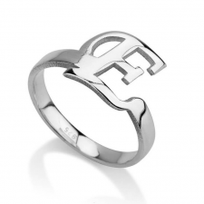Sterling Silver Initial Ring