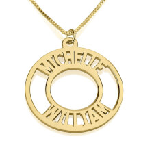 24K Gold Plated Corona Name Necklace