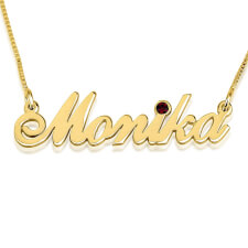 14K Gold Swarovski Alegro Name Necklace