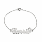 Sterling Silver Carrie Name Bracelet