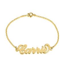 Bracelet Prénom Carrie en Plaqué Or