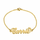 24K Gold Plated Carrie Name Bracelet