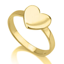 24K Gold Plated Heart Ring