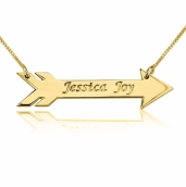 24K Gold Plated Feather Arrow Necklace