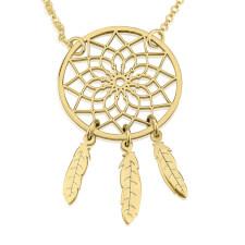 24k Gold Plated Dreamcatcher Necklace
