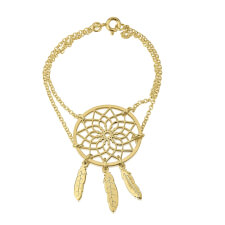 24k Gold Plated Dreamcatcher Bracelet