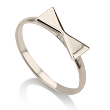 Sterling Silver Bow Midi Ring