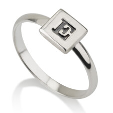 Sterling Silver Cube Midi Ring