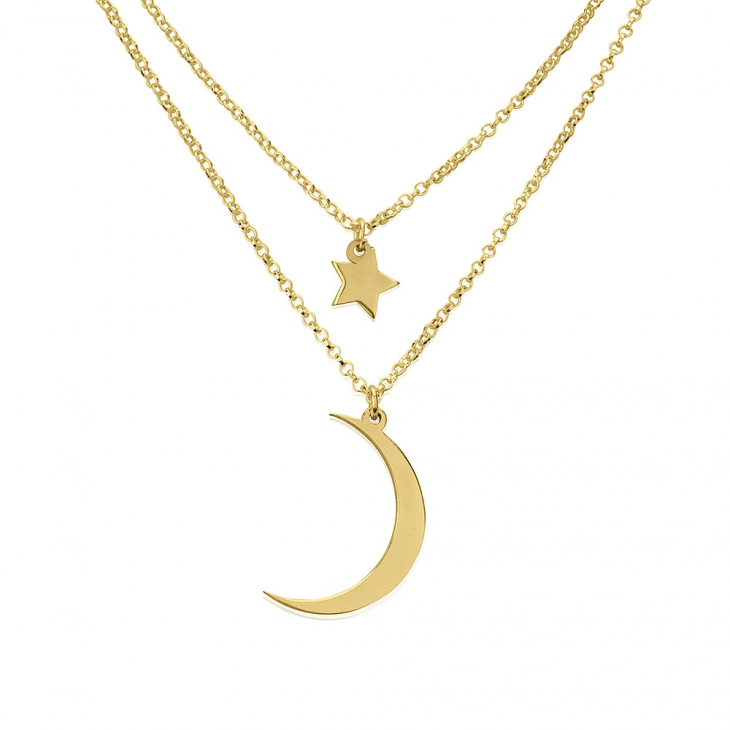 24k Gold Plated Starry Sky Layered Necklace