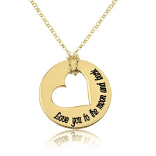 24k Gold Plated Love You to the Moon and Back Necklace