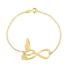 24k Gold Plated Infinity Bird Bracelet
