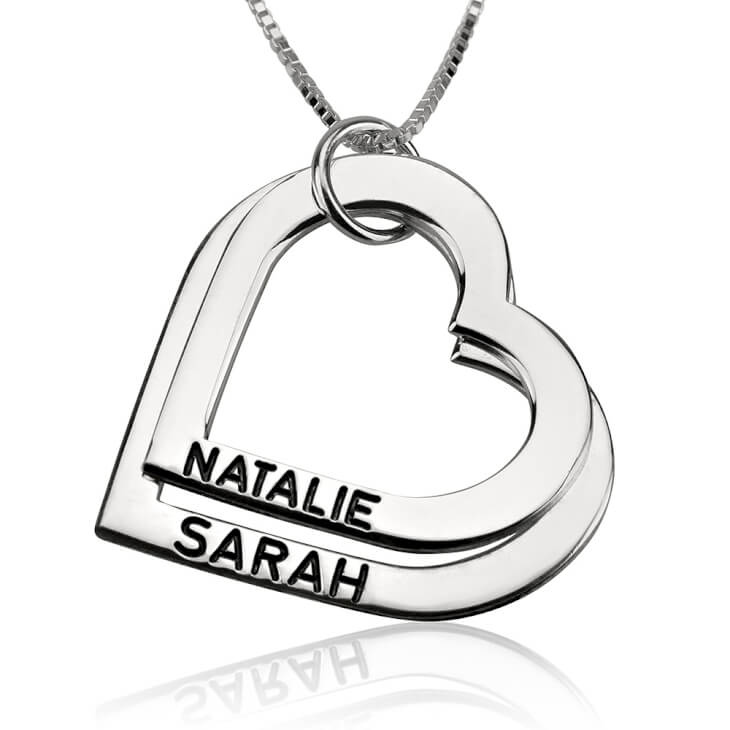 Sterling Silver Engraved Heart Mother Necklace  - Picture 2