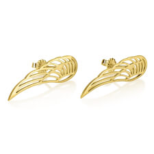 24k Gold Plated Stud Angel Wing Earrings