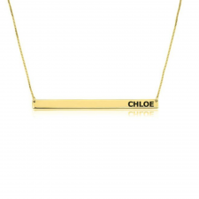 24k Gold Plated Thin Bar Necklace