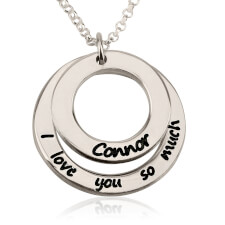 Sterling Silver I Love You So Much Necklace with Name