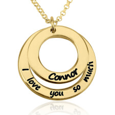 24k Gold Plated I Love You So Much Necklace with Name