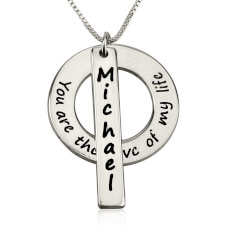 Sterling Silver Love of My Life Necklace with Name