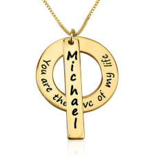 24k Gold Plated Love of My Life Necklace with Name