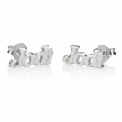 Sterling Silver Name Stud Earrings