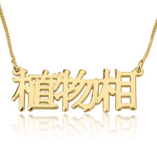 24k Gold Plated Chinese Name Necklace