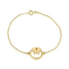 24k Gold Plated Birthstone Bow Bracelet