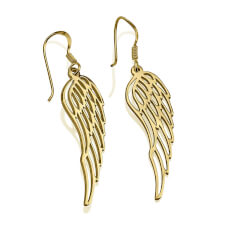 24k Gold Plated Angel Wing Earrings