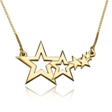 24k Gold Plated Shooting Star Necklace