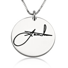 Sterling Silver Circle Signature Necklace