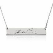 Sterling Silver Signature Bar Nameplate Necklace