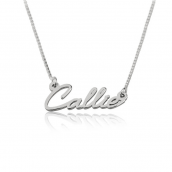 Sterling Silver Tiny Cursive Name Necklace