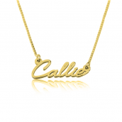 24k Gold Plated Tiny Cursive Name Necklace