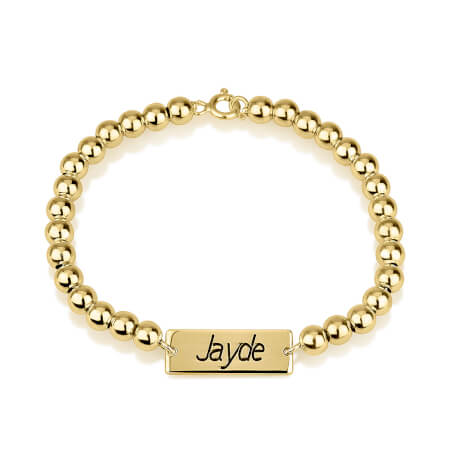 Bar Bead Bracelet