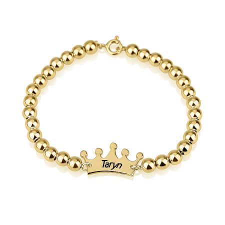Bracelet Perles et Couronne