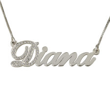 Cubic Zirconia One Letter Name Necklace