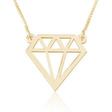Diamond Shape Necklace in Gold Plating