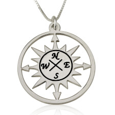 Cut Out Compass Necklace